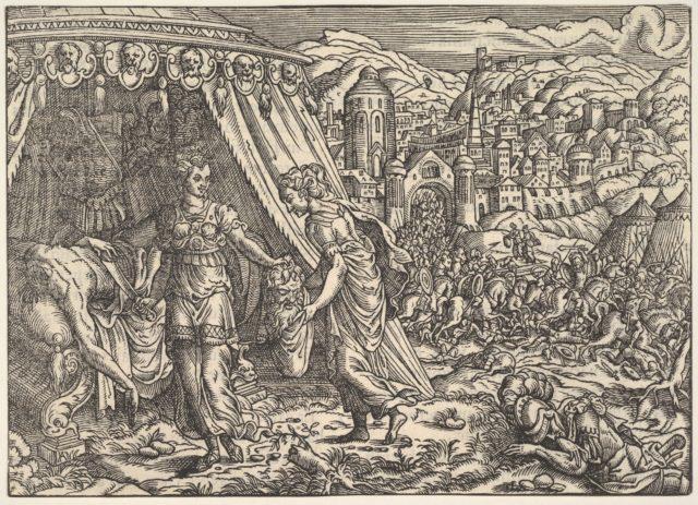 Judith and Holofernes, from Biblia, Frankfurt
