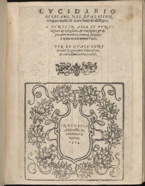 Lucidario di Recami, title page (recto)