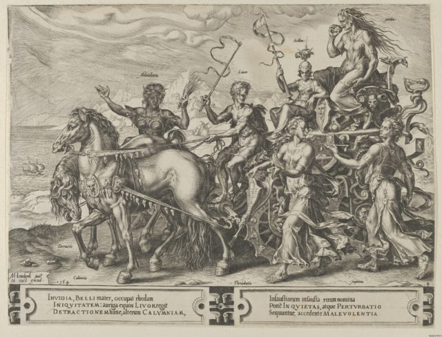 The Triumph of Envy, from The Cycle of the Vicissitudes of Human Affairs, plate 4