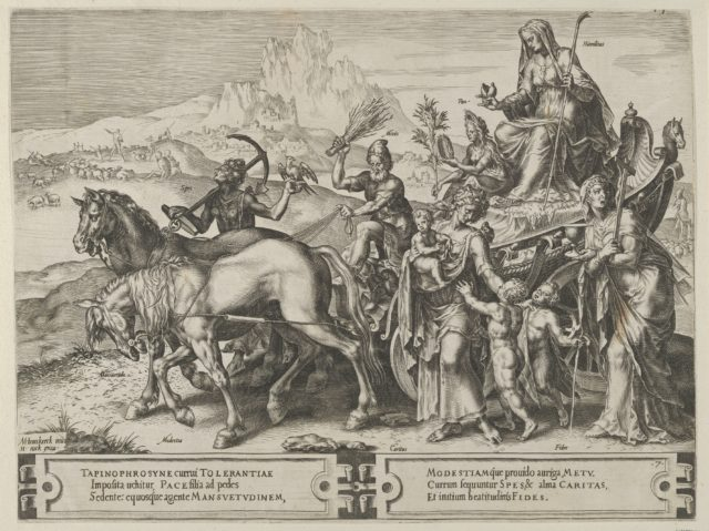 The Triumph of Humility, from The Cycle of the Vicissitudes of Human Affairs, plate 7