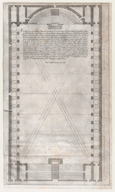 Speculum Romanae Magnificentiae: Plan of the Vatican Teatro, in which the Vatican Tournament was Held