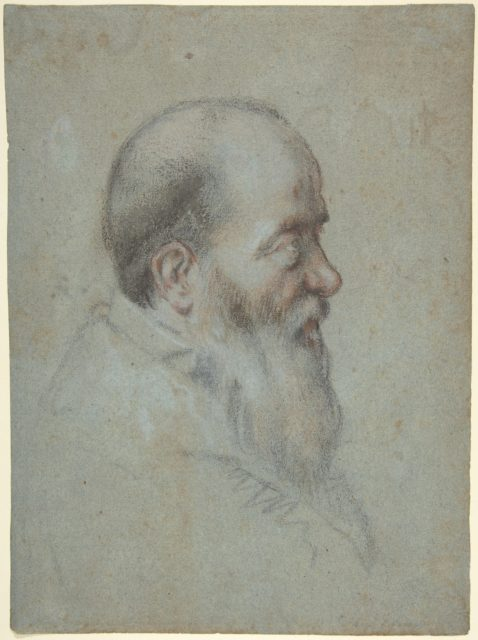 Bust of a Bearded Old Man, Profile to Right