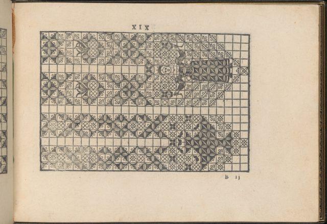 La Vera Perfettione del Disegno di varie sorti di recami, page 10 (recto)