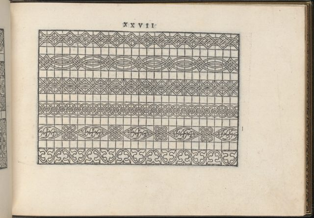 La Vera Perfettione del Disegno di varie sorti di recami, page 14 (recto)