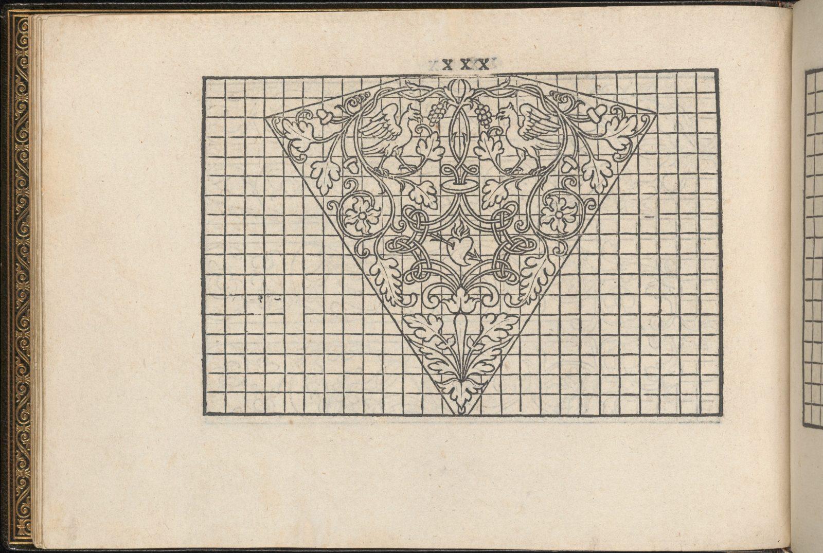 La Vera Perfettione del Disegno di varie sorti di recami, page 15 (verso)