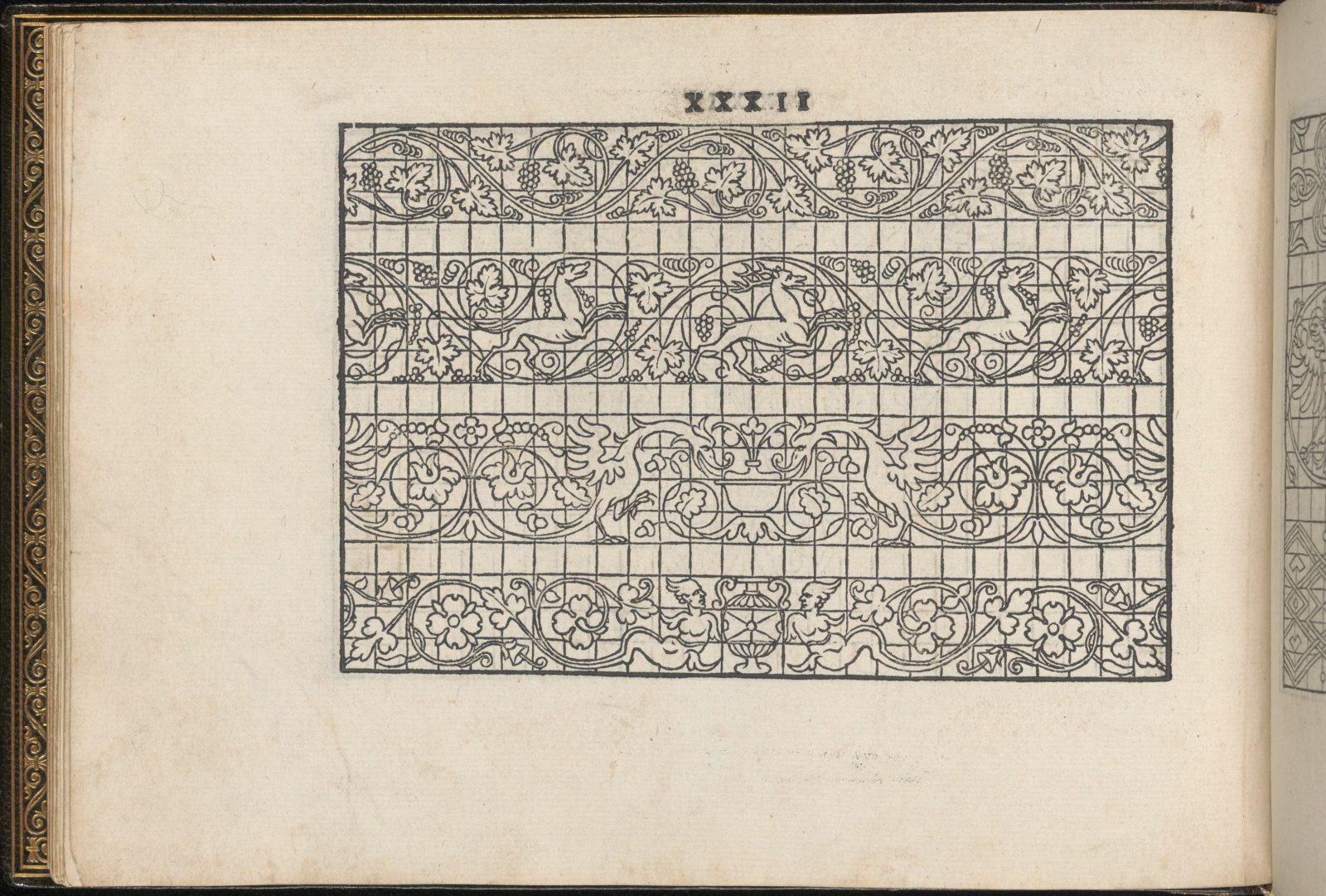 La Vera Perfettione del Disegno di varie sorti di recami, page 16 (verso)