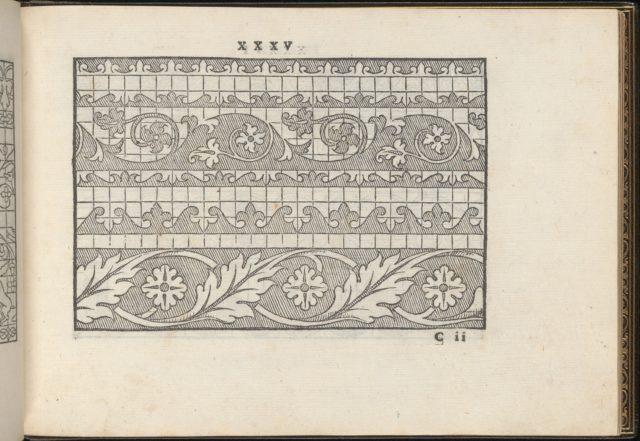 La Vera Perfettione del Disegno di varie sorti di recami, page 18 (recto)