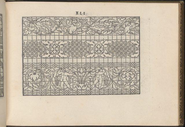 La Vera Perfettione del Disegno di varie sorti di recami, page 21 (recto)