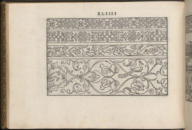 La Vera Perfettione del Disegno di varie sorti di recami, page 22 (verso)