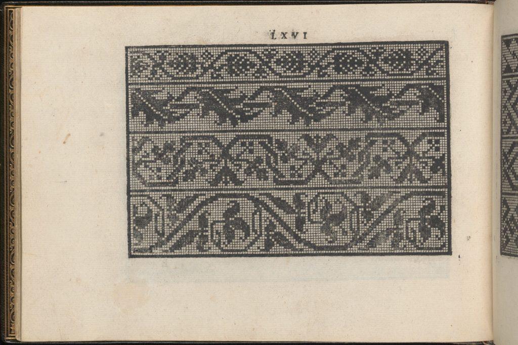 La Vera Perfettione del Disegno di varie sorti di recami, page 33 (verso)