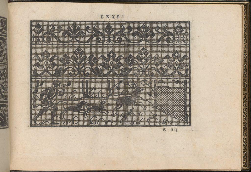 La Vera Perfettione del Disegno di varie sorti di recami, page 36 (recto)