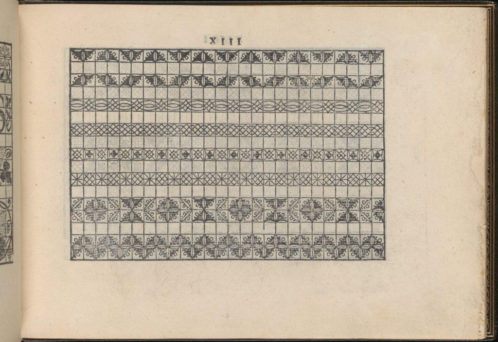 La Vera Perfettione del Disegno di varie sorti di recami, page 7 (recto)
