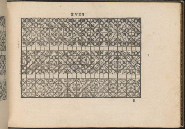La Vera Perfettione del Disegno di varie sorti di recami, page 9 (recto)