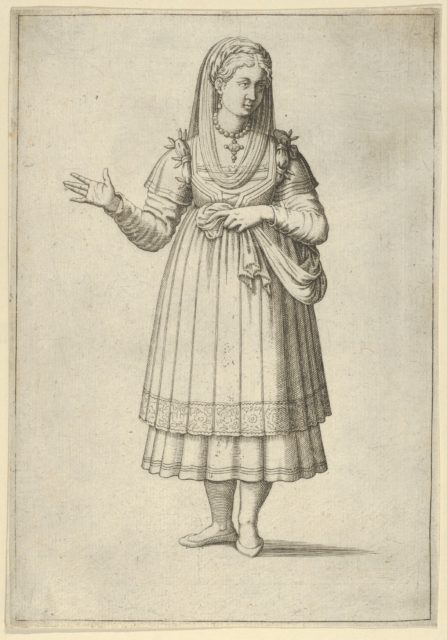 Girl from the Island of Paros, from 'Les quatre premiers livres des navigations et pérégrinations orientales' by Nicolas de Nicolay