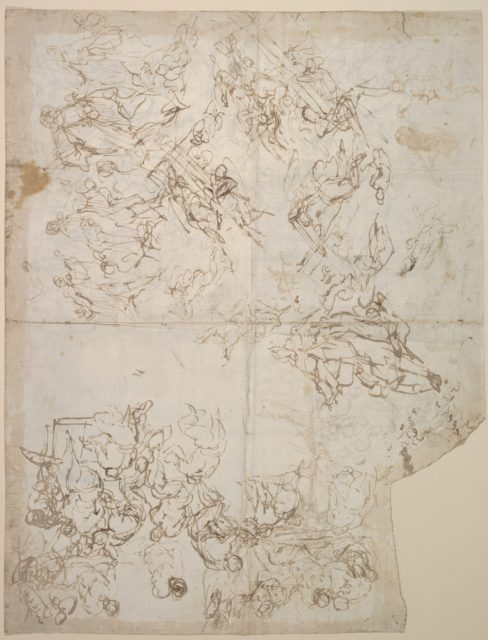Sketches for Compositions and Groups of Figures (recto and verso)