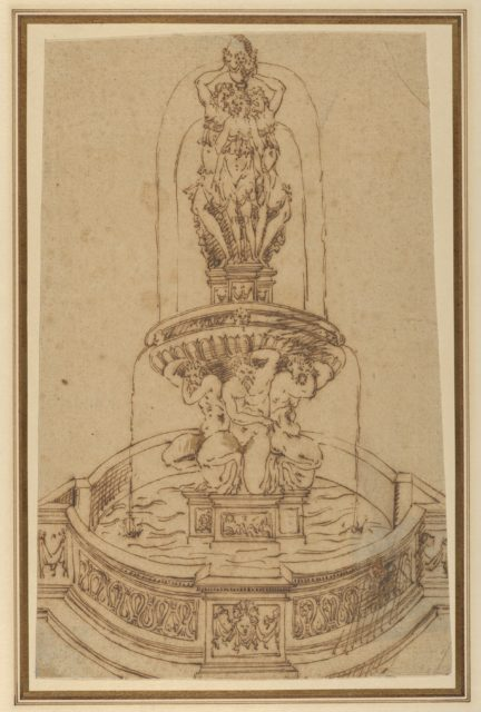 Design for a Fountain with the Three Graces