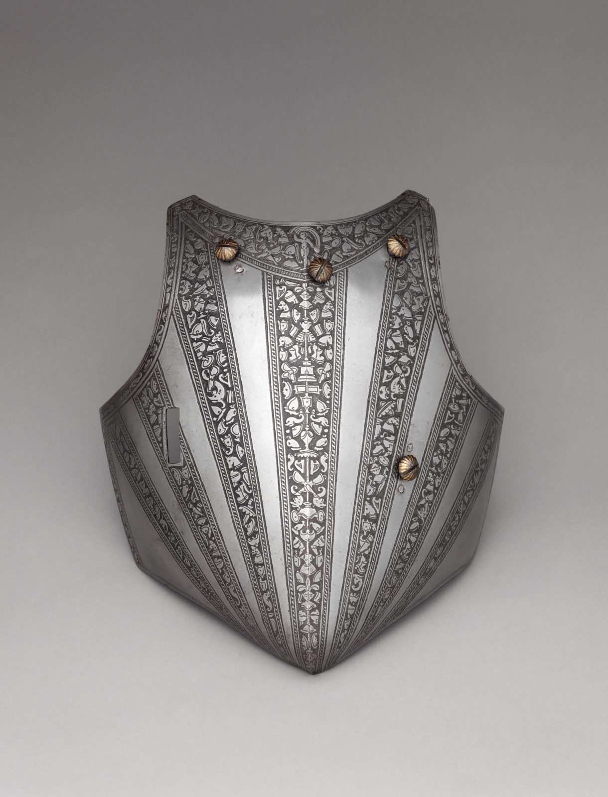 Reinforcing Breastplate, Shoulder Defense, and Buffe (Chin Defense)