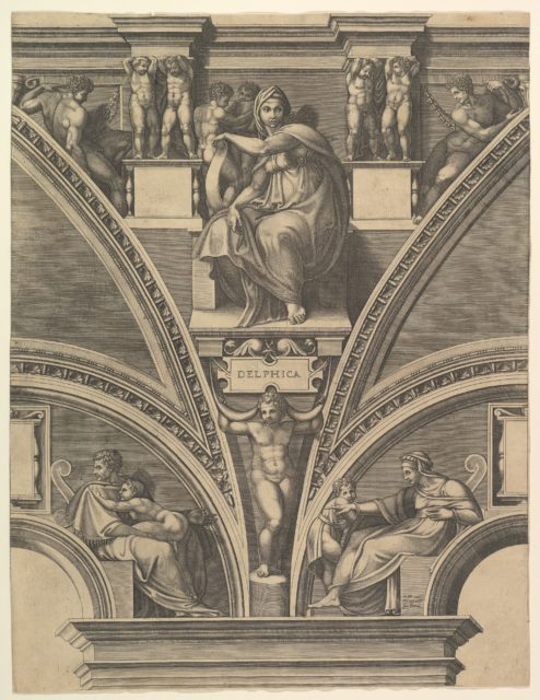 The Delphic Sibyl; from the series of Prophets and Sibyls in the Sistine Chapel