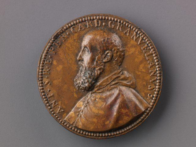 Portrait medal of Antoine Perrenot Granvelle (obverse); Don Juan of Austria Receiving the Standard from Granvelle (reverse)