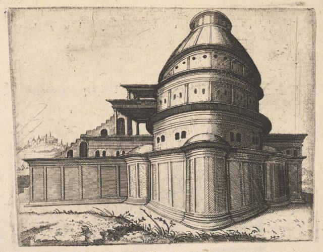 Building [Aerarii Publici Rome] from the series 'Ruinarum variarum fabricarum delineationes pictoribus caeterisque id genus artificibus multum utiles'