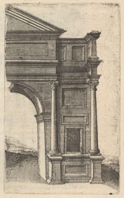 Half of an Arch [Porta Antonae] from the series 'Ruinarum variarum fabricarum delineationes pictoribus caeterisque id genus artificibus multum utiles'
