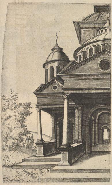 Half of Building [Templum Saturni] from the series 'Ruinarum variarum fabricarum delineationes pictoribus caeterisque id genus artificibus multum utiles'
