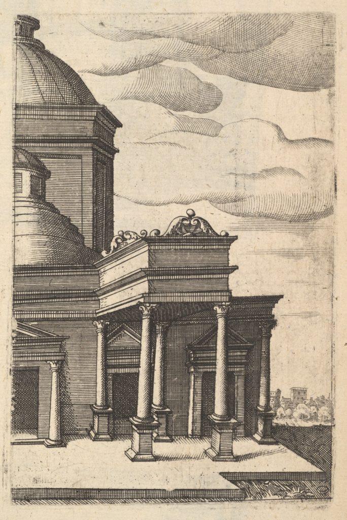 Partial view of a Building [Templum Veneris] from the series 'Ruinarum variarum fabricarum delineationes pictoribus caeterisque id genus artificibus multum utiles'