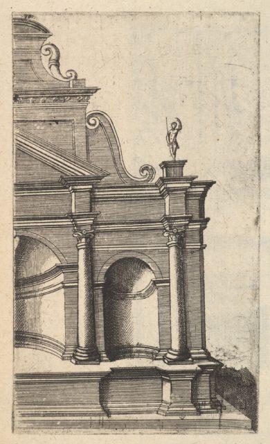 Partial View of a Monument [Mercurii Templum] from the series 'Ruinarum variarum fabricarum delineationes pictoribus caeterisque id genus artificibus multum utiles'