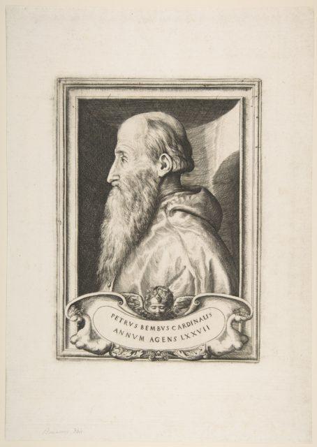 Portrait of Cardinal Pietro Bembo facing left