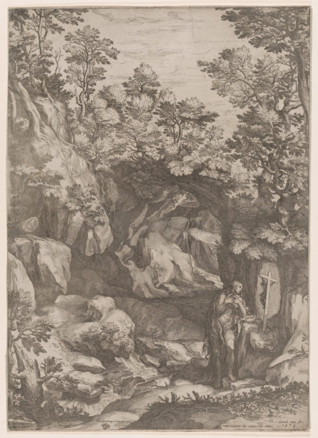 Mary Magdalen Repentant in the Wilderness