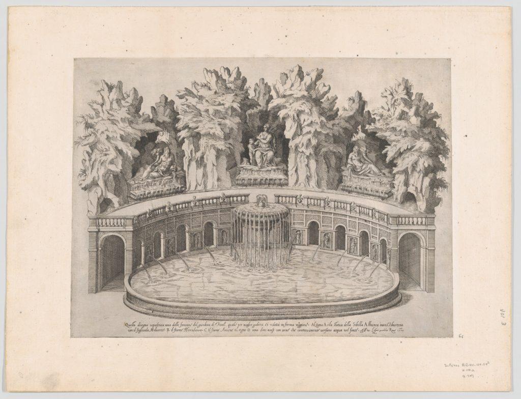 Speculum Romanae Magnificentiae: Fountain and Gardens of the Villa d'Este at Tivoli