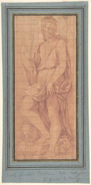 Standing Saint John the Baptist with The Lamb