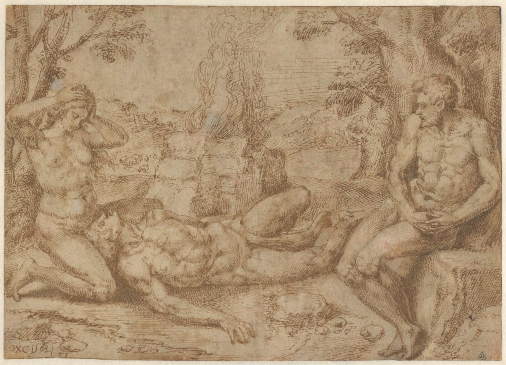Adam and Eve Mourning the Death of Abel