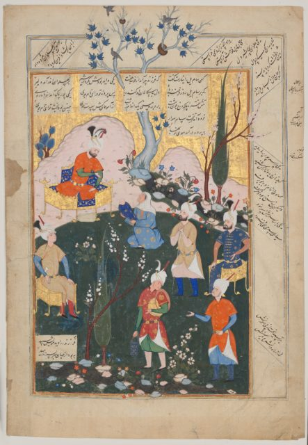 """Birth of Zal"", Folio from a Shahnama (Book of Kings)"