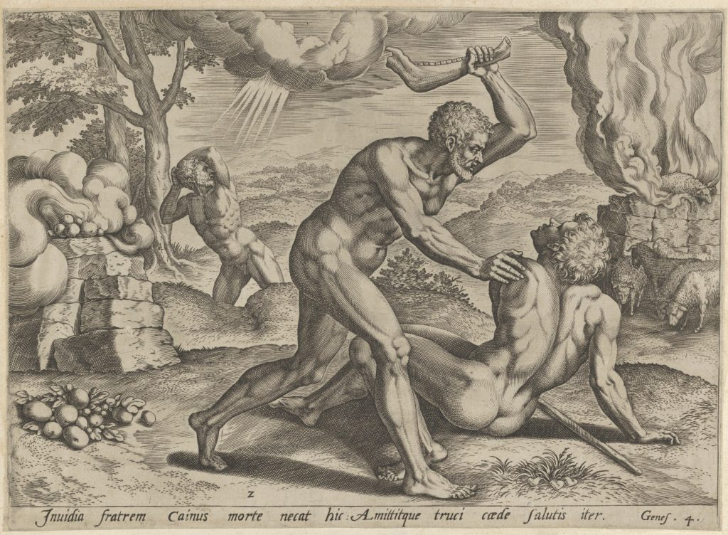 Cain murdering Abel (plate 2 from The Story of Cain and Abel)