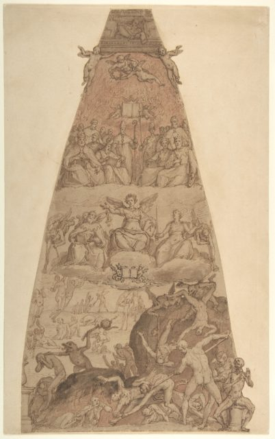 Scene from the Last Judgment, Study for the Fresco Decoration of One of the Segments of the Cupola of the Cathedral of Santa Maria del Fiore in Florence