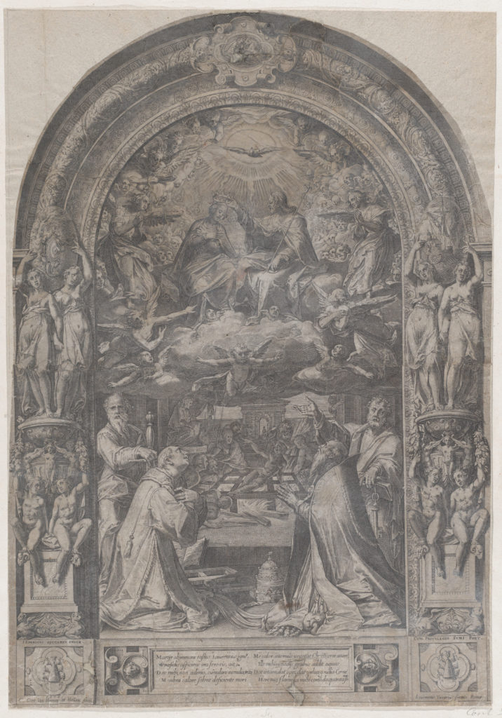 The Coronation of the Virgin with St Lawrence, St Paul, St Peter and St Sixtus