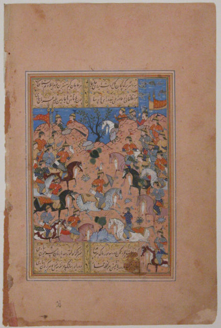 """""""A Tournament at Arms"""", Folio from a Divan (Collected Works) of Mir 'Ali Shir Nava'i"""