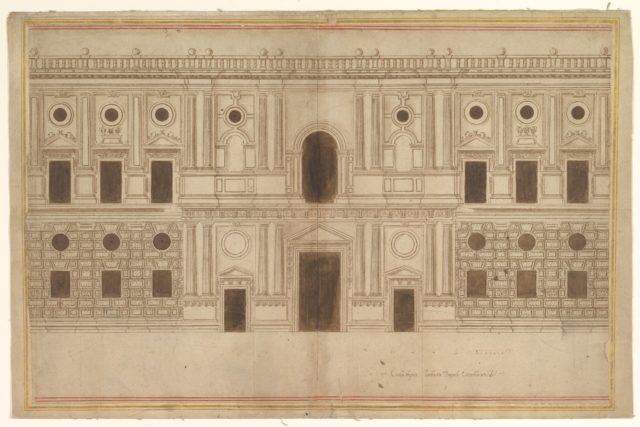 Study for the West Façade of the Palace of Charles V, The Alhambra, Granada
