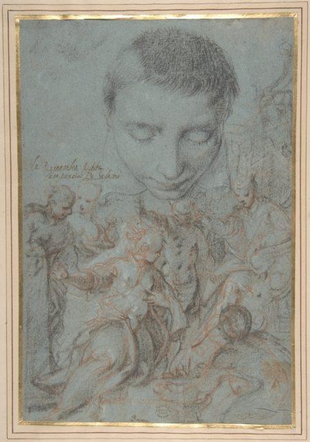 Study of Boy's Head; the Queen of Sheba Before Solomon.