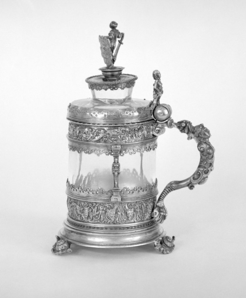 Tankard inset with rock crystal