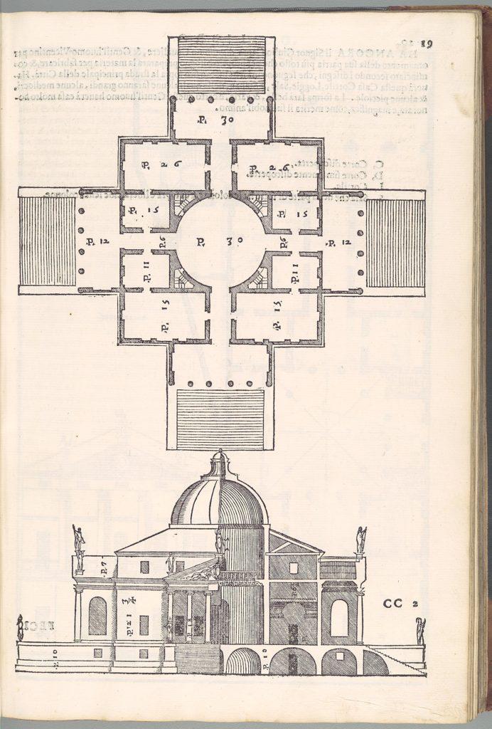 I quattro libri dell'architettura di Andrea Palladio. Ne'quale dopo un breue trattato de' cinque ordini