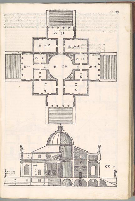 I quattro libri dell'architettura di Andrea Palladio. Ne'quale dopo un breue trattato de' cinque ordini (Book 2, page 19)