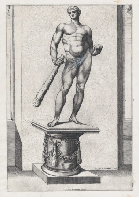 Speculum Romanae Magnificentiae: Hercules with the apples of the Hesperides
