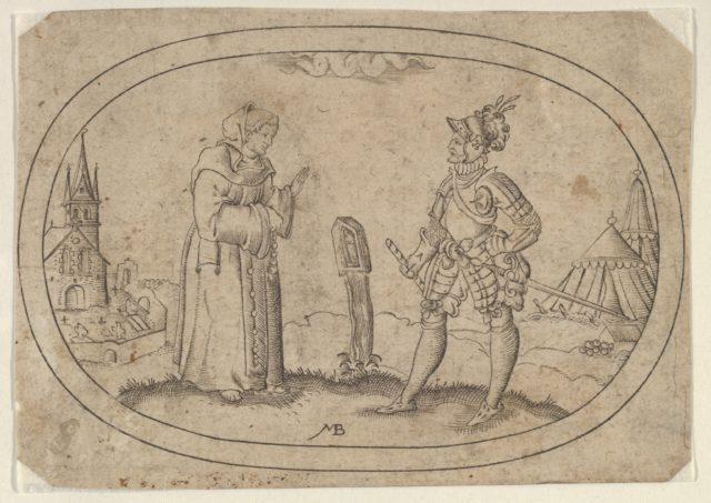 A Friar and a Soldier, from Das Bossenbüchlein
