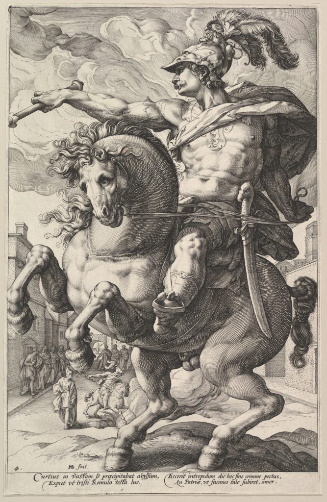 Marcus Curtius, from the series The Roman Heroes