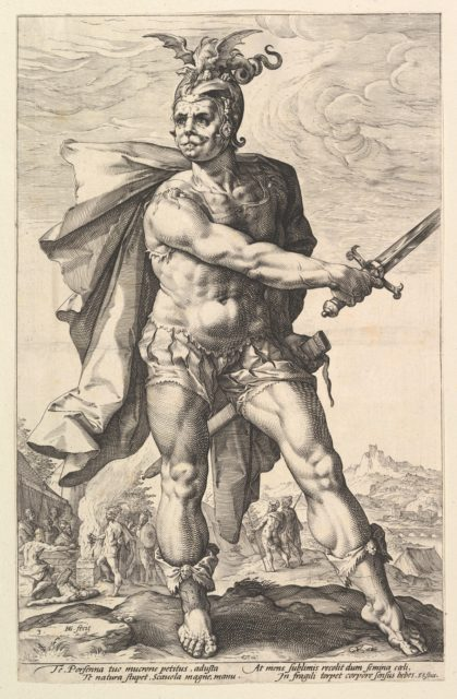 Mucius Scaevola, from the series The Roman Heroes