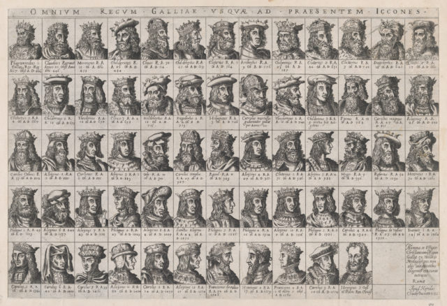 Speculum Romanae Magnificentiae: Small Portraits of the French Kings from Pharamond to Henri III