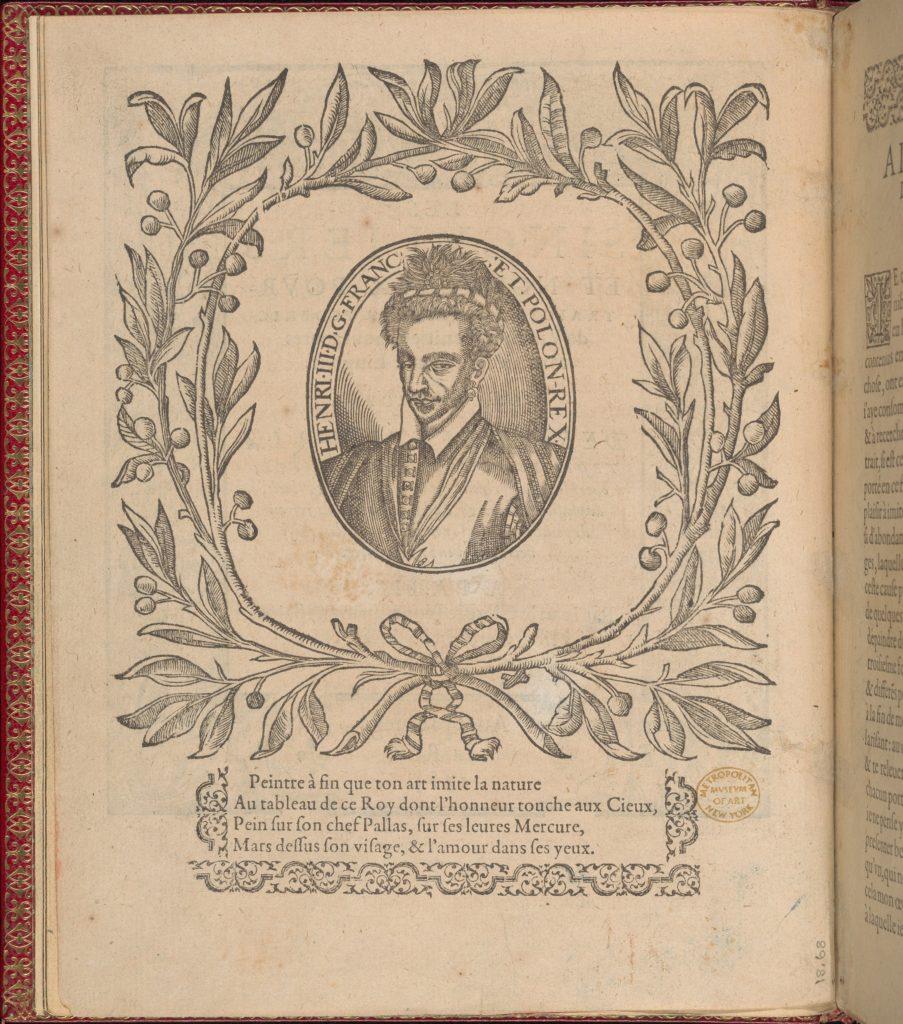 Les Singuliers et Nouveaux Portraicts... Part I title page (verso)