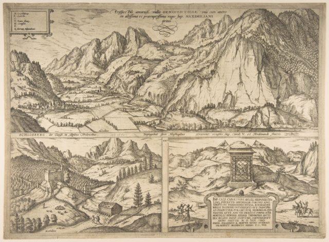 Innsbruck from the series Civitates Orbis Terrarum, vol. V, plate 59
